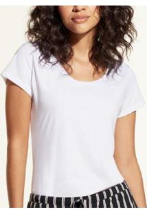 Camiseta Liz Easywear Manga Curta Feminina - Feminino-Branco