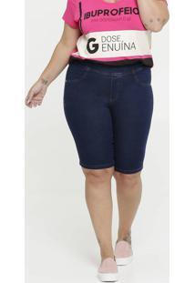 Bermuda Feminina Jeans Ciclista Plus Size