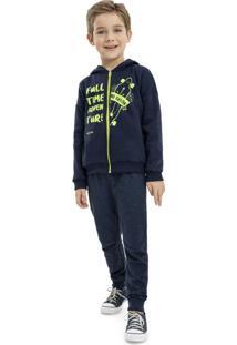 Conjunto Infantil Jaqueta E Calça Azul