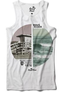 Camiseta Regata Long Beach Coleção Praias Surfista Sublimada Masculina -  Masculino-Branco 1cb29893688