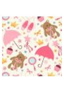 Papel De Parede Autocolante Rolo 0,58 X 3M - Urso Borboleta Coração Coroa Brigadeiro 196787363