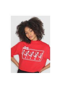 Camiseta Cropped My Favorite Thing(S) Tune Squad Vermelha