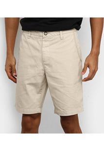 Bermuda Sarja Reserva Slim Fit Color Masculina - Masculino-Areia