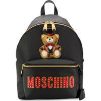 1d52d25d2 Farfetch. Moschino Logo Patch Backpack - Preto