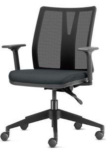 Cadeira Addit Assento Crepe Cinza Com Base Piramidal Em Nylon - 54105 Sun House