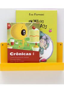 Organizador Quartinhos Porta Livros E Revisteiro De Parede Infantil Amarelo - Tricae