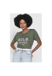 Camiseta Colcci Delete My Number Verde