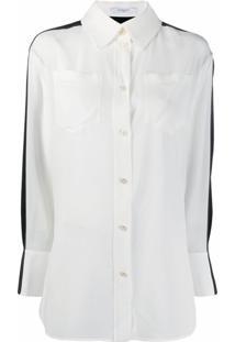 Givenchy Camisa Bicolor - Branco