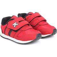 39bb454ea6 Tênis Infantil Klin Velcro Menino - Masculino-Vermelho+Preto
