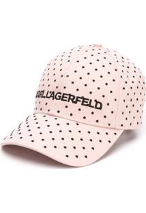Karl Lagerfeld Chapéu Karl Com Poás - Rosa