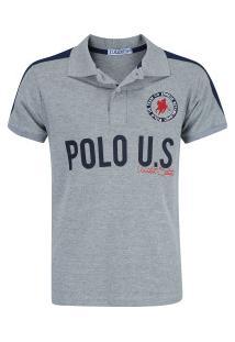 Camisa Polo Polo Us 189 - Masculina - Cinza 457deb2eb368e