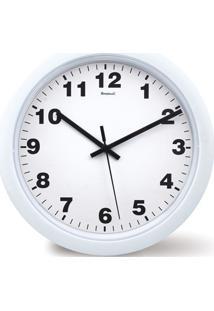 Relógio De Parede Em Plástico Redondo 30Cm Branco