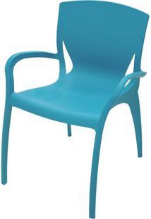 Cadeira Clarice Com Braco Cor Azul - 20741 - Sun House