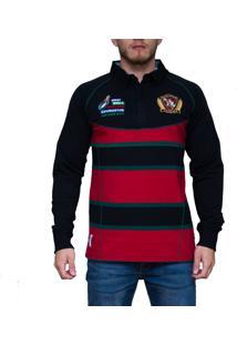 Blusa Kevingston Brown Rugby Vermelho Ii Listrado 95467aa97bbf2