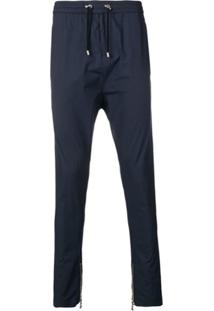 Balmain Tapered Drawstring Trousers - Azul