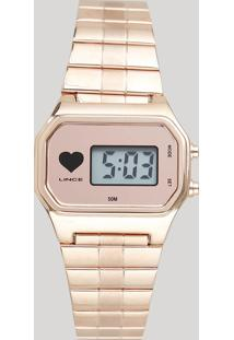 Relógio Digital Lince Feminino - Sdr4480L Brrx Rosê