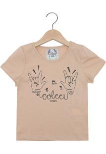 eacbe3d50 Camiseta Para Meninas Bege Reserva infantil   Shoes4you