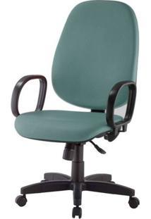 Cadeira Corporate Presidente Cor Verde Com Base Nylon - 43969 - Sun House