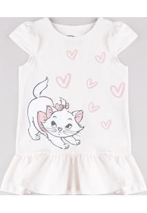 Vestido Infantil Marie Com Babado Manga Curta Rosa Claro