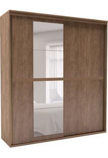 Guarda-Roupa Casal Sofisticato Com Espelho 2 Pt 6 Gv Ébano