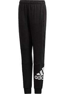 Calça Infantil Adidas Must Haves Masculina - Masculino-Preto+Branco