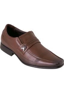 Sapato Pegada Café Em Couro