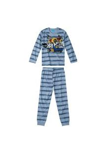 Pijama Infantil Inverno Hot Wheels Malwee Kids