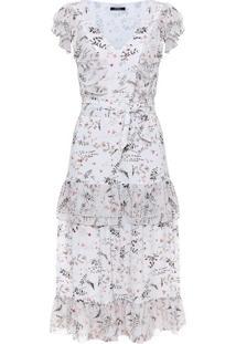 Vestido Midi Floral Aquarela