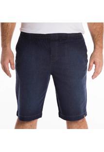 Bermuda Jeans California Prime Elástico Azul