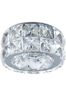 Spot Embutir Gu10 Redondo Cristal 50W Cromado Bella Iluminação Bivolt