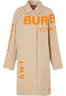 Burberry Casaco Com Estampa Horseferry - Neutro