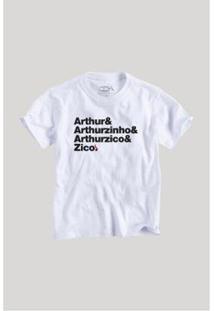 Camiseta Infantil Zico Origem Reserva Mini Masculina - Masculino-Branco
