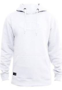 Blusa Canguru Oakley One Brand Masculino - Masculino-Branco