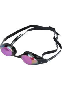 Óculos De Natação Hammerhead Racer Pro Mirror - Adulto - Preto/Vermelho