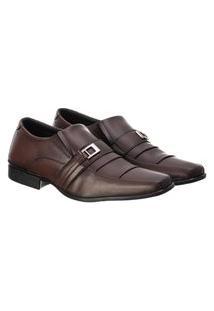 Sapato Social Masculino Confortável Macio Leve Clássico Café 44 Café