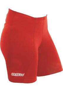 Bermuda Ciclismo Active Feminina P Vermelha Asw