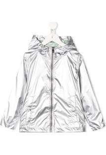 Ciesse Piumini Junior Metallic Hooded Raincoat - Prateado