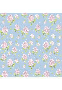 Papel De Parede Floral- Azul Claro & Rosa Claro- 300Jmi Decor