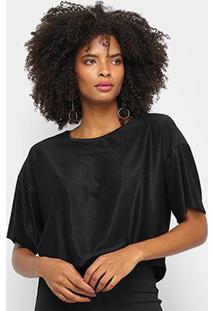 Camiseta Cavalera Tee Cropped Ampla Stardust Feminina - Feminino