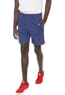 Shorts Esportivo Azul Cintura Alta  06f68ab544a6b