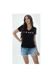 T-Shirt Daniela Cristina Gola V 04 602Dc10287 Preto