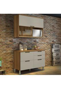 Cozinha Compacta Duquesa 2 Pt 4 Gv Off White E Freijó