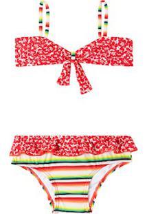 672049c828acb Biquíni Bustiê Calça Babado Holiday Pink Infantil - Salinas