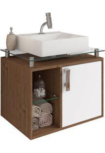 Gabinete De Banheiro Porto 1 Pt Amêndoa E Branco