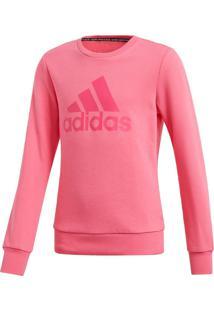 Blusa De Moletom Adidas Must Haves Badge Of Sport Rosa