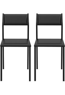 Kit Com 2 Cadeiras Sofia Preto - Carraro