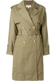 Michael Michael Kors Trench Coat Oversized - Green 102bcba514