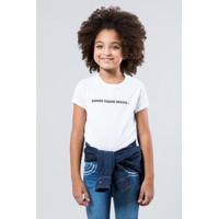 c1c94dfb91 Camiseta Infantil Somos Todos Iguais Reserva Mini Feminina - Feminino-Branco