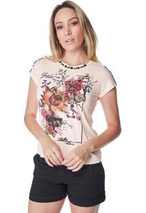 T-Shirt Celestine Estampada Rose