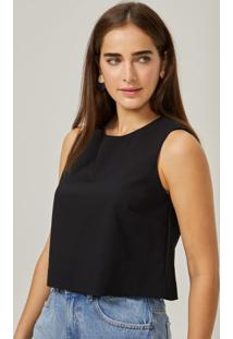 Amaro Feminino Top Cropped Double, Preto